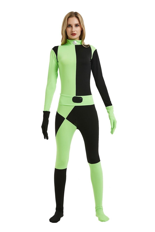 Anime Kim Possible Kim Halloween adulte belle fille cosplay costumes scène intelligente caractère atmosphère accessoires jouer vêtements costume