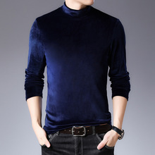 Men's Sweater Knitted Pullover Woolen Slim High-Neck Winter Casual New And Autumn Brand