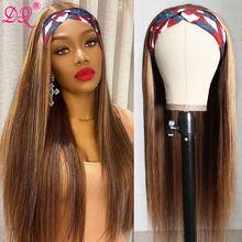 Reta destaque peruca de cabeça peruca sintética mista marrom ombre mel loira festa diária cosplay perucas fibra resistente ao calor p4/27