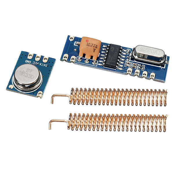 433MHz ASK Transceiver Module Kit SRX882 + STX882 +Spring Antenna Wireless RF 433MHz Module