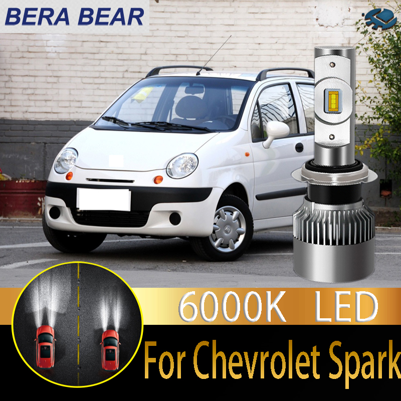 Bera Bear Car Headlight Bulbs Led For Chevrolet Spark Beat Led Car 6000k 10000lm White Light Auto Headlight 2x Car Headlight Bulbs Led Aliexpress