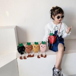 Children's Bags Cute Ugly Meng Carrot Crossbody Bag Fashion Cartoon Men And Women Baby Accessories Bag