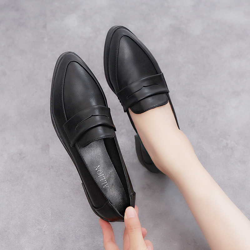 Womens Loafers Flats Female 2019 Autumn Women Leather Shoes Fashion Luxury Design Pointed Loafers ladies Shoes Woman Oxford shoe