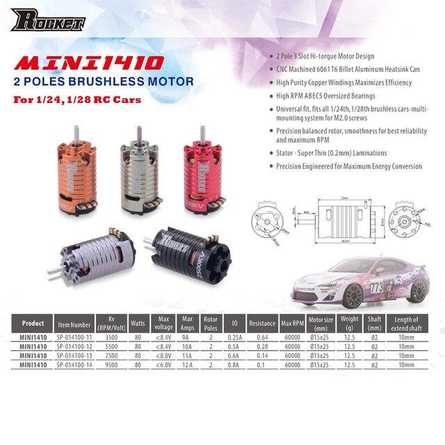 Mini 1410 2500KV 3500KV 5500KV 7500KV Motor 18A ESC için Kyosho Mr03 Pro atomik DRZ 1/24 1/28 1/32 RC Mini Z Drift araba