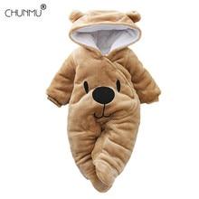 Outfit Romper Jumpsuit Long-Sleeve Girl Newborn-Baby Winter Cartoon-Bear Unisex Boy Autumn
