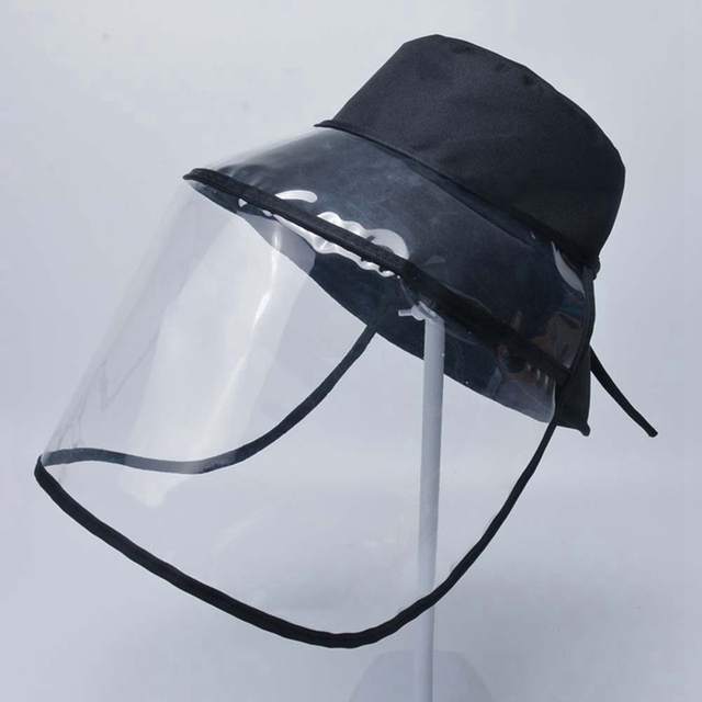 Transparent Protective Hats Safety Cap Dustproof Windproof mondkapjes Multi-function Removable Anti-fog Saliva Face Cover Shield 3