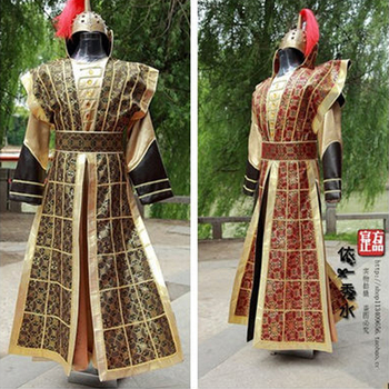 2019 Cute Men Hanfu Hat of Tang Dynasty Cosplay Ancient Chinese Commanding Soldiers Performing Clothing Stage Costumes Wear New
