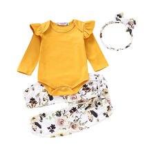 Лидер продаж Одежда для новорожденных девочек комбинезон футболка