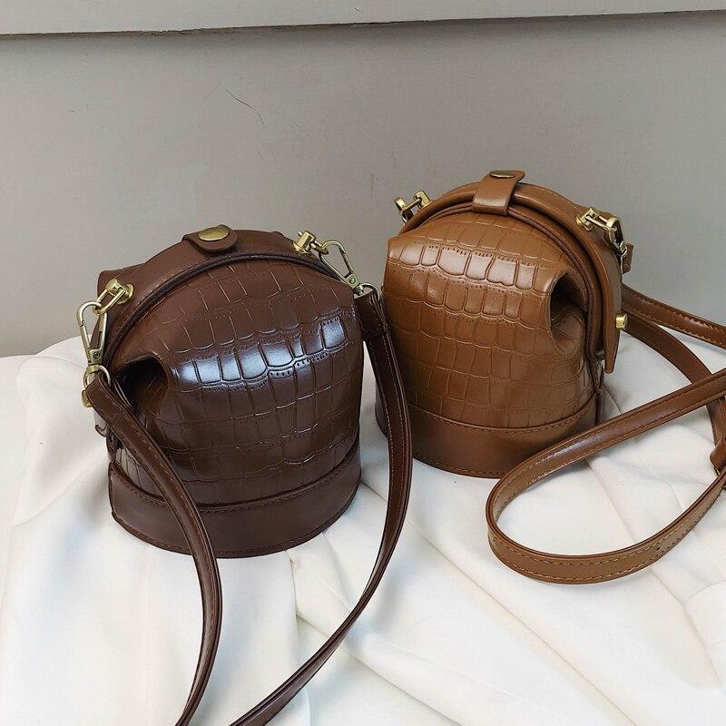 Stone Pattern Bucket Bags 2020 Fashion New High Quality PU Leather Women's Designer Handbag Vintage Shoulder Messenger Bag