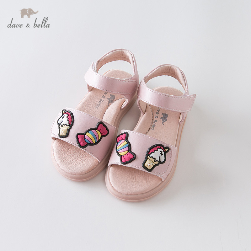 DB13467 Dave Bella Summer Baby Girls Fashion Sandals New Born Infant Shoes Sandals Cartoon Appliques Shoes