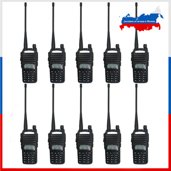10pcs Baofeng UV-82 5W Walkie Talkie VHF UHF Dual band  136-174&400-520MHz UV82 Two Way Radio - discount item  10% OFF Walkie Talkie