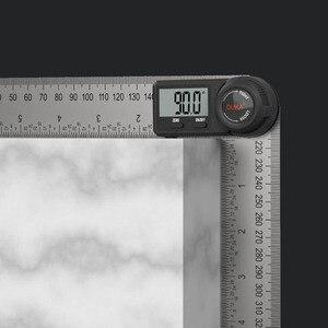 Image 5 - Youpinデュカ多機能デジタル表示角度定規ledディスプレイ360度測定304ステンレス鋼レーザーキャリブレーション