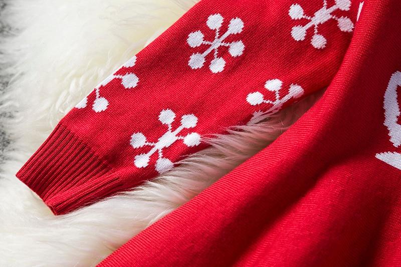 Hefa6234258e64ee6ac485bb9b7713201u Kids Dresses For Girls Long Sleeve Deer Snowflake Print Dress New Year Costume Princess Dress Kids Christmas Clothes Vestidos