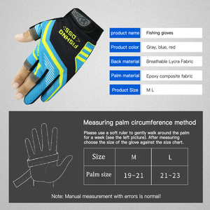Image 5 - Three Fingers Cut Fishing Gloves Tool for Men Anti slip Outdoor Fishing Gloves  Elasticity Glove Fishing Accessories Fish Finder