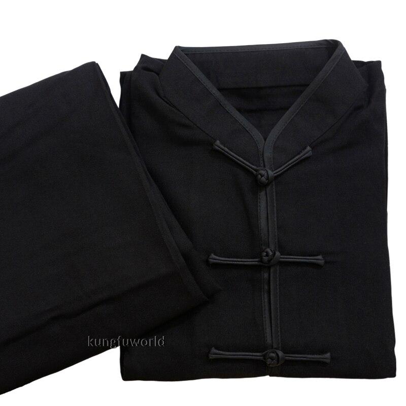 黑色棉麻太极服 副本