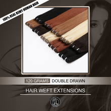 Hair-Extensions Weave Human-Hair Double-Drawn European Bundle Remy-Weft Real 16-18-20-22-Fairy