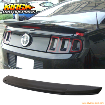 Fit For 10-14 Ford Mustang Shelby GT500 Style Trunk Spoiler - Unpainted ABS