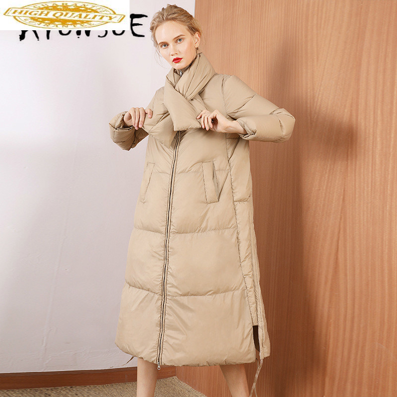 White Duck Down Jacket Women Clothes 2019 Winter Coat Women Korean Stand Collar Puffer Jacket Women Warm Parka 199014 YY2113