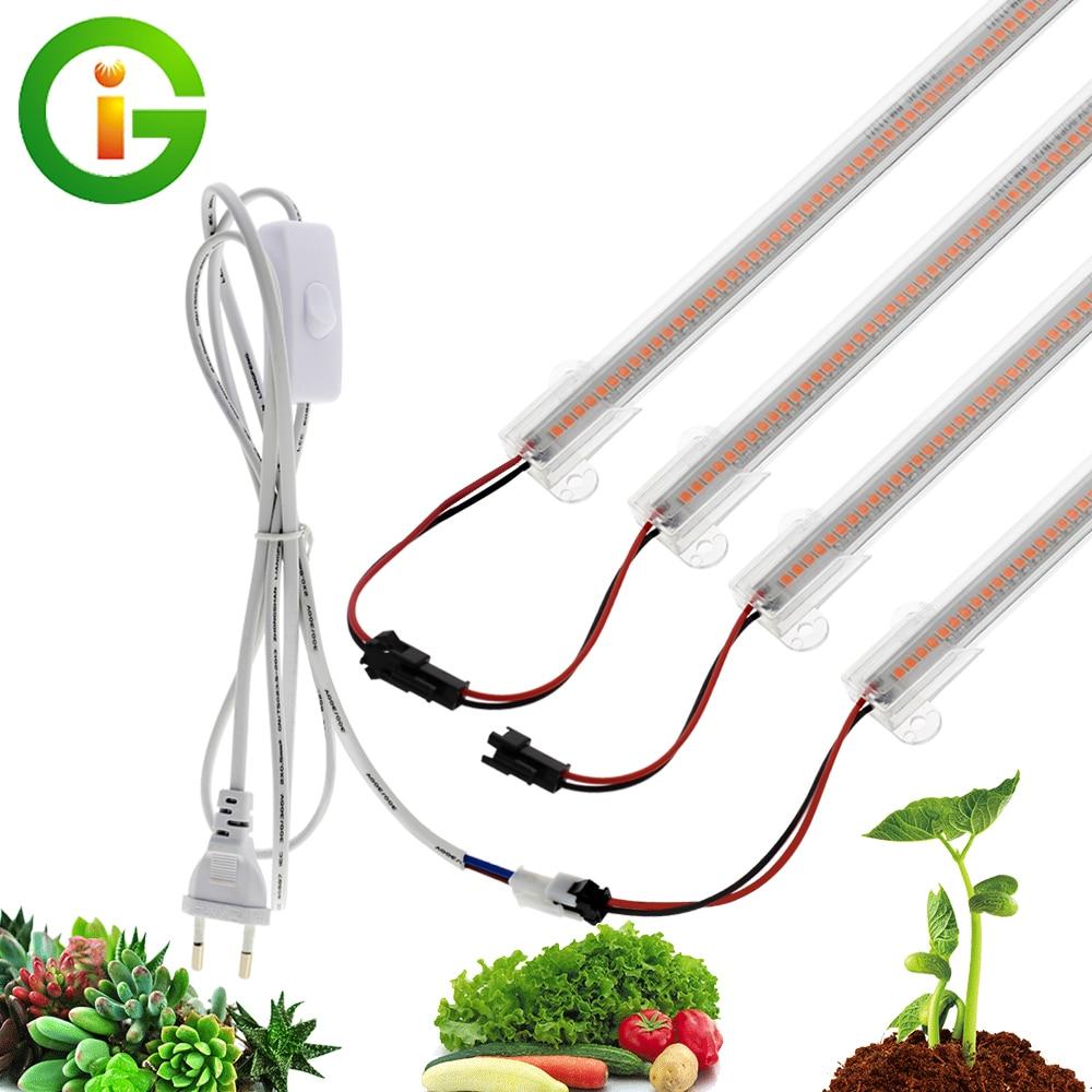LED cresce a luz 220V Full Spectrum LED Bar Lâmpada para Plantas alta Luminous Eficiência 8W 50/30 centímetros para Grow Tenda estufas Flores