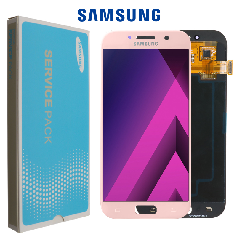 Original 5.2 Super AMOLED LCD for SAMSUNG Galaxy A5 2017 Display  Touch Screen Digitizer A520 A520F SM A520F Replacement PartsMobile  Phone LCD Screens