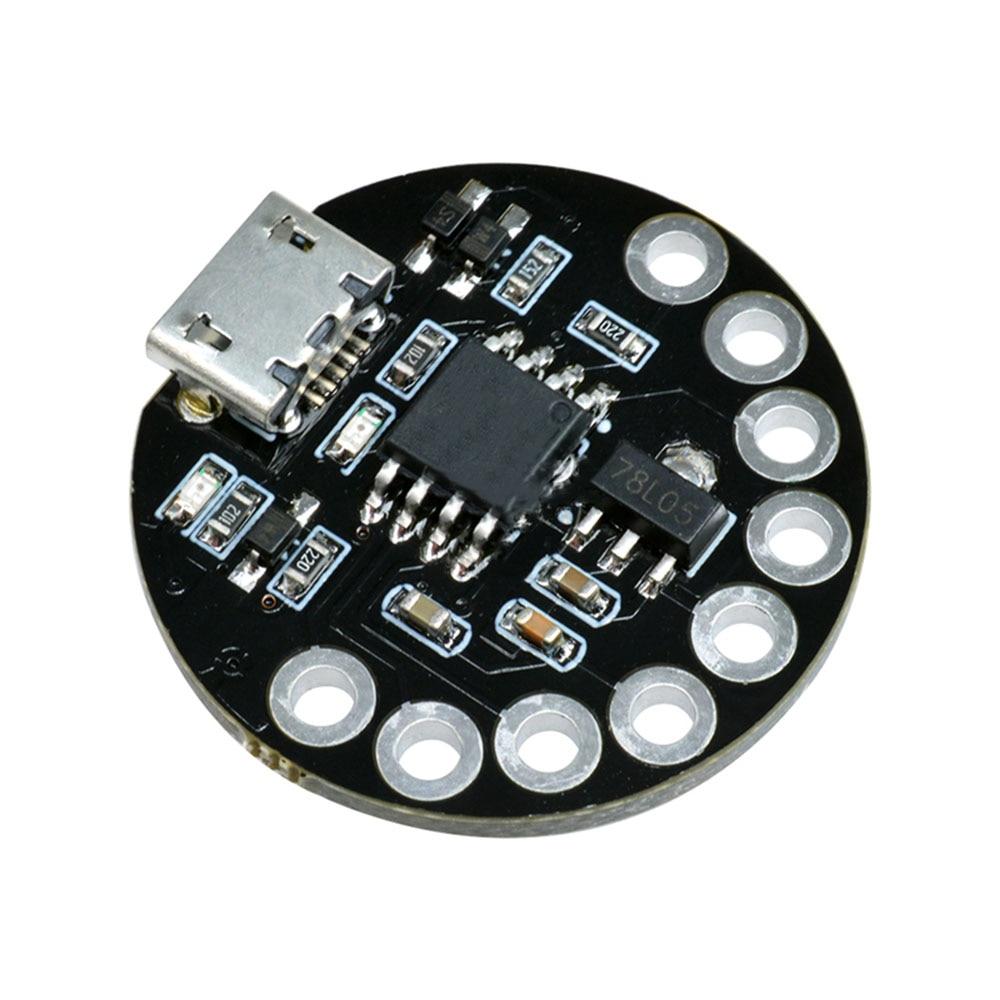 Taidacent 5 Pcs ATTINY85-LilyTiny Lilypad Main Control Board USB Micro Microcontroller ATTINY85 Development Board Wearable Board