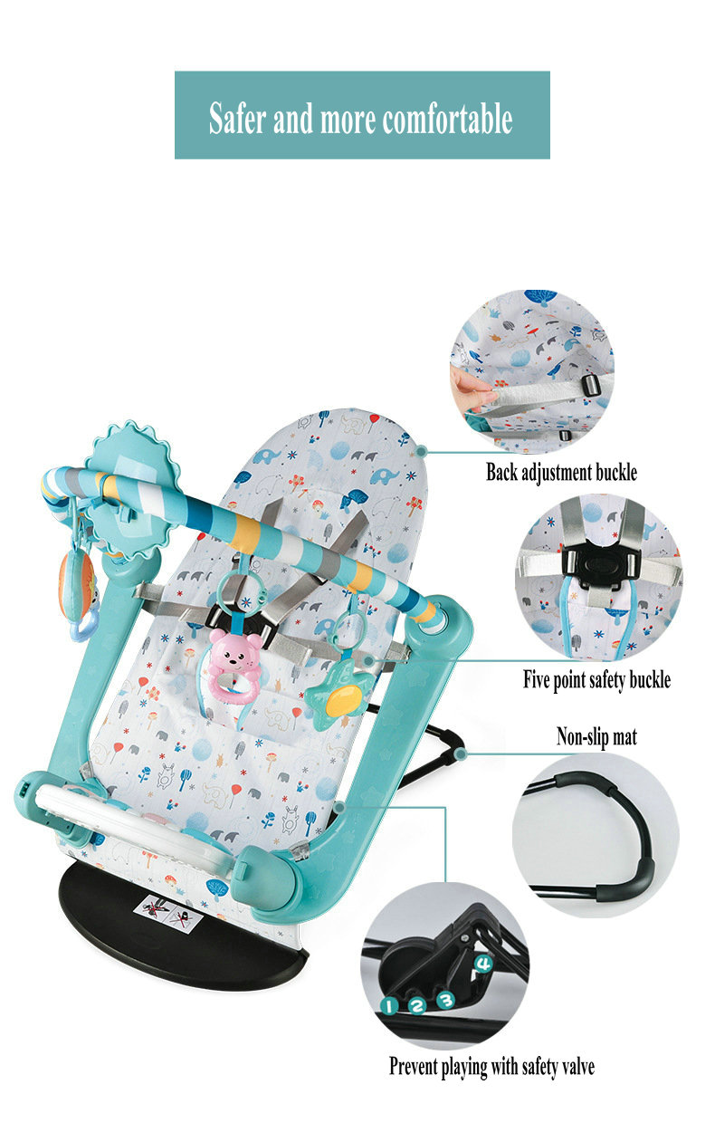 Hefa70ddbc0884b959b676f82ecebf993P Baby Rocking Chair Newborn Electric Toy Fitness Frame Children Music Folding Swing Multifunction Comfortable Recliner Rattle