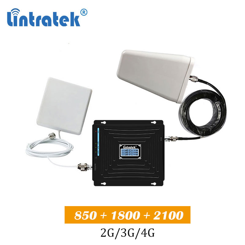 CDW 850 1800 2100  Tri Band 2g 3g 4g Cellular Booster Cdma 850mhz Lte 1800mhz WCDMA 2100 Cell Phone Signal Amplifier Repeater S9