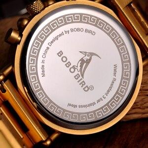 Image 4 - BOBO BIRD Men Watches Stopwatch relojes hombre Wooden Wristwatches Male Show Date erkek kol saati in Gifts Box USA warehouse