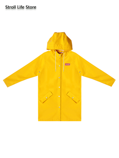 red Couple Rain Coat Women Long Outdoor Hiking Raincoat Yellow Rain Poncho Trench Coat Men Waterproof Suit Gabardina Mujer Gift 4