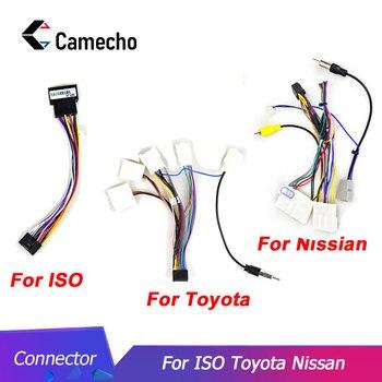 Camecho 2din coche Android cable de radio arnés de cable adaptador de conector de cable para Volkswagen ISO Hyundai Kia Honda Toyota Nissan