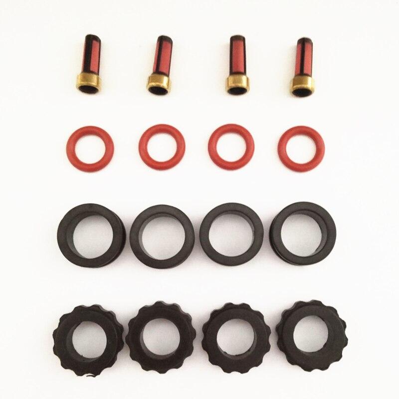 4 مجموعة حاقن وقود إصلاح أطقم ل INP780 INP781 780033R 78102YN صالح لمازدا 626 2.0 بروتج 1.8 (AY-RK066)