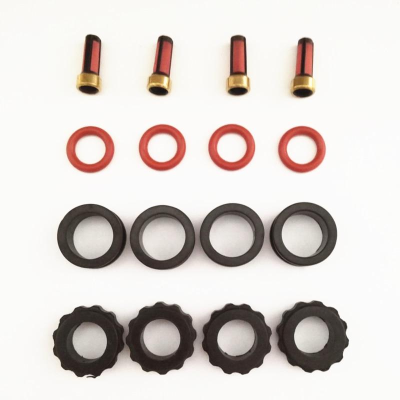 4 zestaw zestawy naprawcze wtryskiwaczy paliwa dla INP780 INP781 780033R 78102YN nadające się do Mazda 626 2.0 protege 1.8 (AY-RK066)