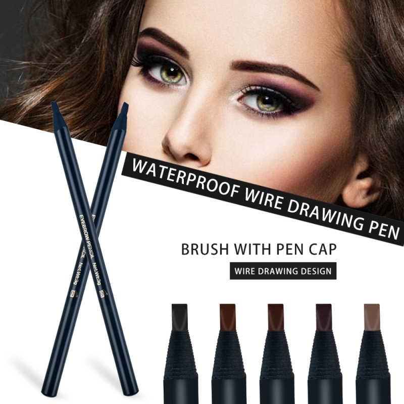5 colori Professionale Potenziatori Sopracciglia Portatile di Lunga durata Eye Brow Pencil Impermeabile Marrone Eye Brow Pen TSLM2