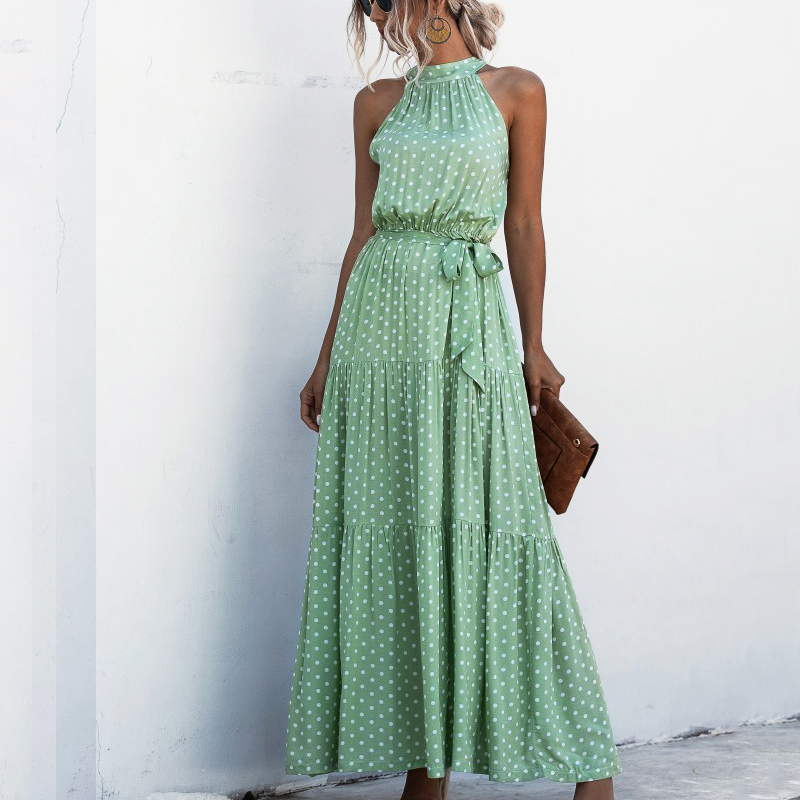 Summer Maxi Long Dress Women Halter Neck Vintage Floral Print Sleeveless Boho Dresses Plus Size Sexy Beach Dress Vestido