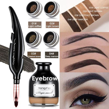 New Feather Design Eyebrow Enhancer Gel Eye Brow Tint Pomade Gel Makeup Waterproof Eyebrows Cream with Brush Professional focallure professional eyebrow gel 5 colors waterproof eye brow enhancer cream makeup with brush