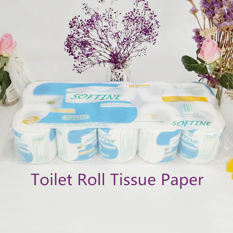 10 Rolls Toilet Roll Paper Home Bath Toilet Roll Paper Towels Tissue Household Toilet Tissue Paper 3 Layer Toilet Roll Paper