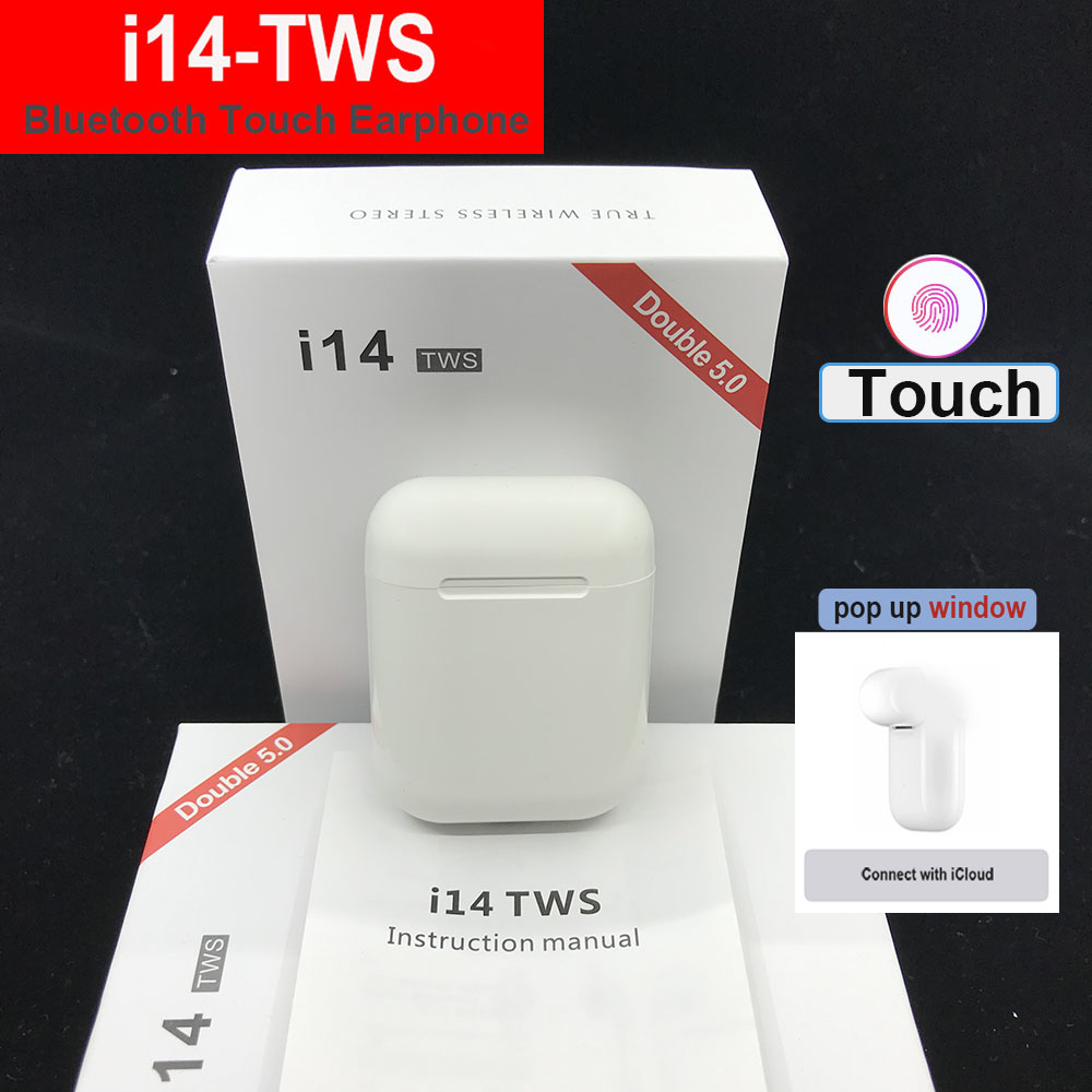 i12 i14 <font><b>TWS</b></font> PK i30 i20 <font><b>tws</b></font> <font><b>Bluetooth</b></font> touch Earbuds Wireless Earphone Pk i80 i40 LK TE9 i13 i10 for i9s i18 i20 i30 i15 i16 <font><b>tws</b></font> image