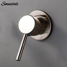 Smesiteli Brass Balck Gold Chrome Wall Mounted Hot Cold Control Valve Bathroom Mixer Sink Tap Basin Faucet Vanity Water Tapware