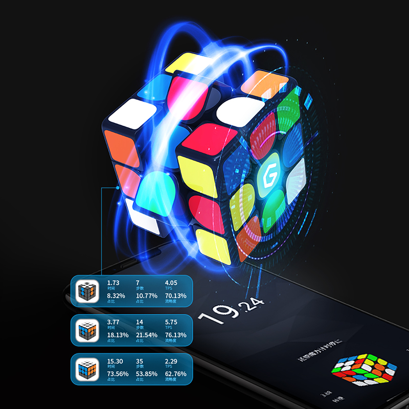 Image 2 - Original Xiaomi Mijia Giiker I3s AI Intelligent Super Cube Smart Magic Magnetic Bluetooth APP Sync Puzzle Toys [Update Version]-in Smart Remote Control from Consumer Electronics