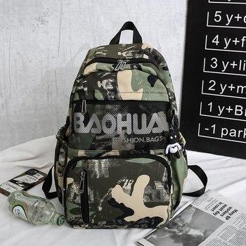Camouflage Backpack For Women 2020 Waterproof Nylon Multi Pocket Travel Backpacks Large Capacity School Bag Teenage Big