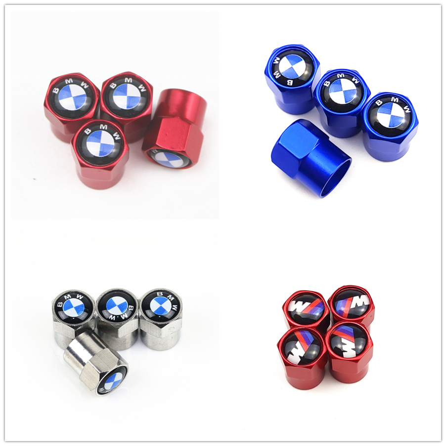4PCS Car air wheel valve <font><b>cap</b></font> For <font><b>Bmw</b></font> X1 X3 X4 X5 X6 e36 e39 e46 <font><b>e90</b></font> e60 e87 e92 e30 e34 f10 f20 f30 Car Accessories image