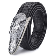 Brand Mens Belts Luxury Leather Designer Belt Men High Quality Ceinture Homme Crocodile Cinturones Hombre 2019 New Belts new hasemeka designer belts men high quality genuine leather belt for men luxury ceinture homme military style 130cm hm202