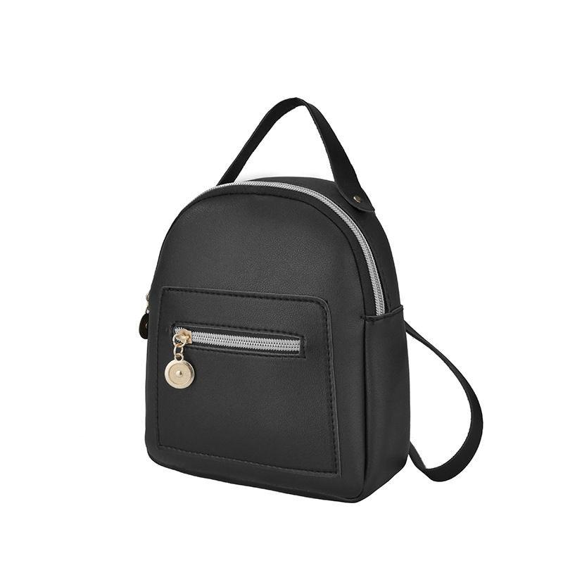 Mini Backpack Women PU Leather Shoulder Bag For Teenage Girls Kids Multi-Function Small Bagpack Female Ladies School Backpack