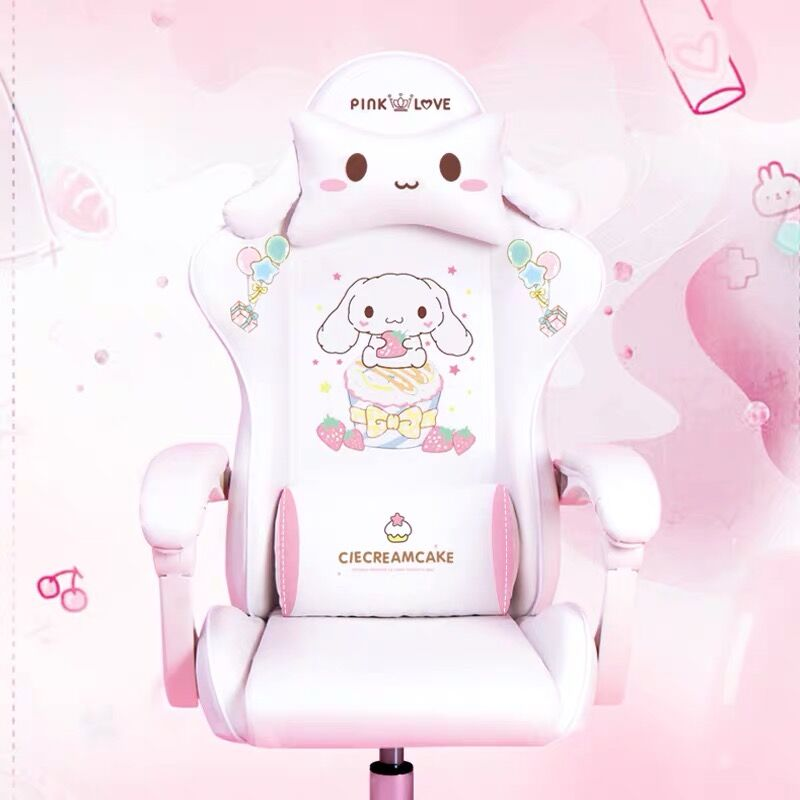 Cute cartoon chairs bedroom comfortable office computer chair home girls gaming chair swivel chair adjustable live gamer chairs 2