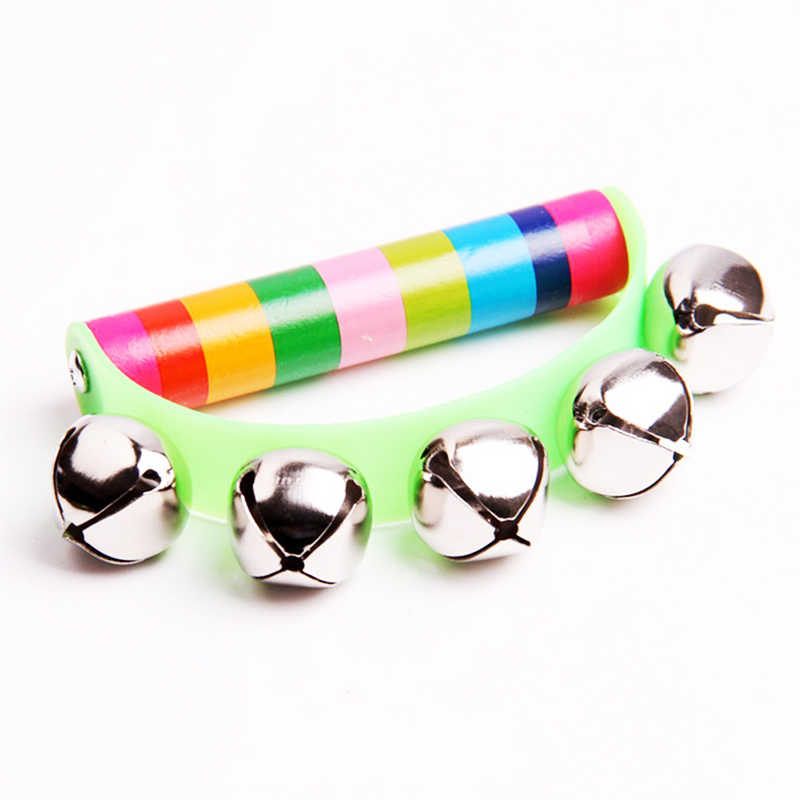 Hot-Musical Instruments For Kids Children's Educational Toys Color Half Rings Bells Early Educational Toys For 2 Years Old