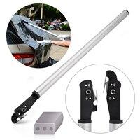 FOSHIO Long Handle Teflon Vinyl Sticker Cutter+10Pcs Blade Car Wrap Carbon Fiber Film Paper DIY Cutting Tool Utility Art Knife