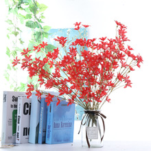 High Quality 5forks Persian Chrysanthemum Bouquet Artificial Flowers Silk Flower Craft Christmas Decorations for Home Garden