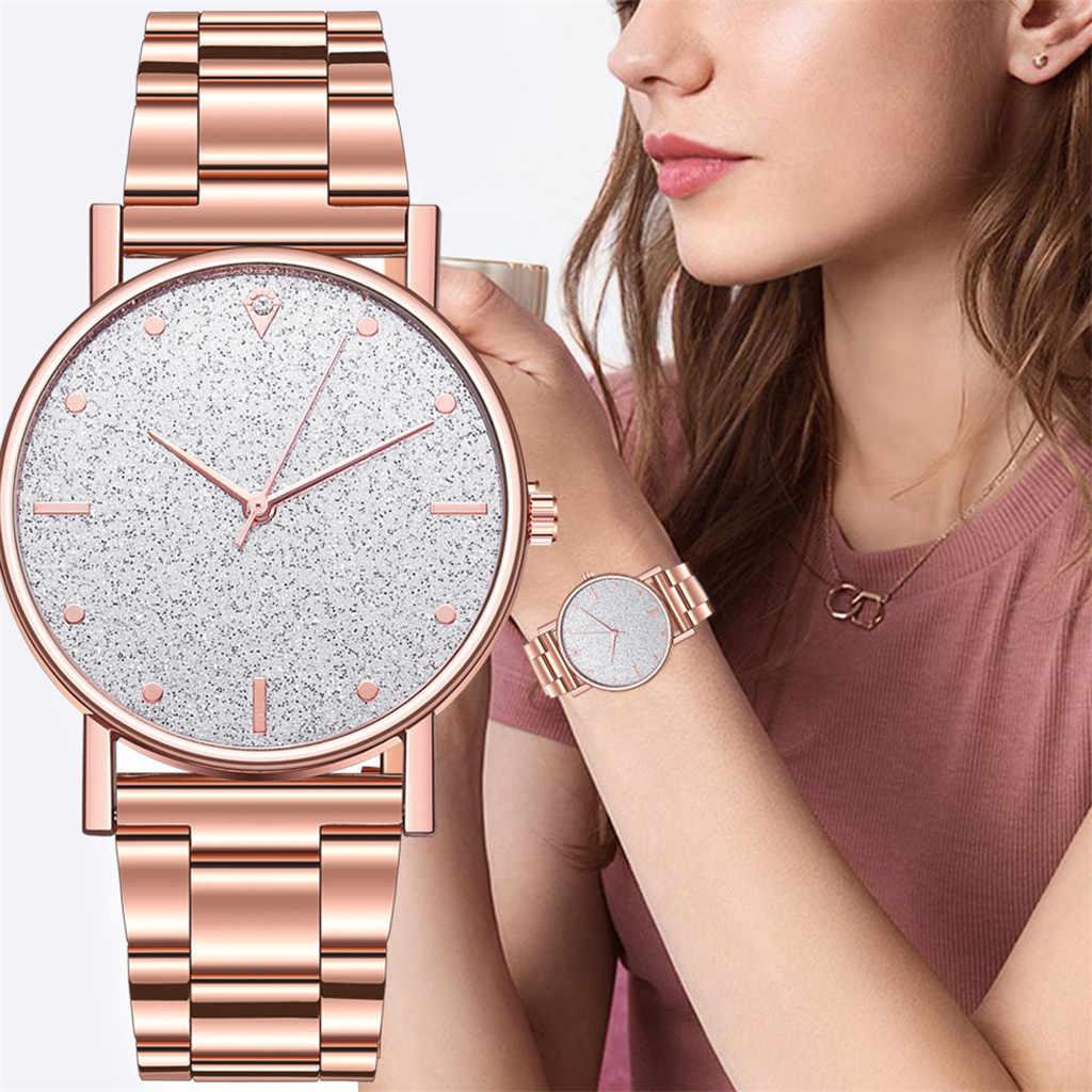 2020 Mode Vrouwen Stalen Armband Horloges Luxe Diamond Star Dial Ladies Dress Klokken Quartz Analoog Montre Femme Casual Horloge