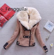 Women Woollen Casual Coat Winter Autumn 2019  Fashion New Brand Plus Size S-XXL Zipper Slim Solid Parka Casaco Feminino