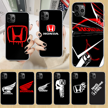 HONDA car Phone Case cover For iphone 4 4S 5 5C 5S 6 6S PLUS 7 8 X XR XS 11 PRO SE 2020 MAX transparent back fashion cell cover image